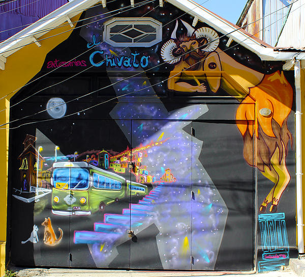 Street Art Valparaiso Chile 5 Print by Kurt Van Wagner