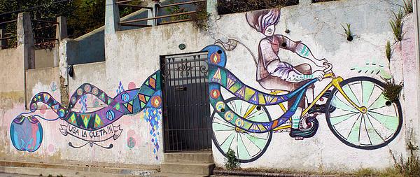 Street Art Valparaiso Chile Print by Kurt Van Wagner