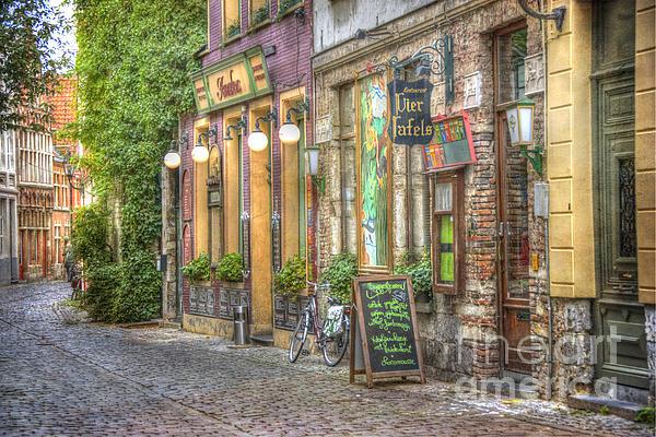 Street In Ghent Print by Juli Scalzi