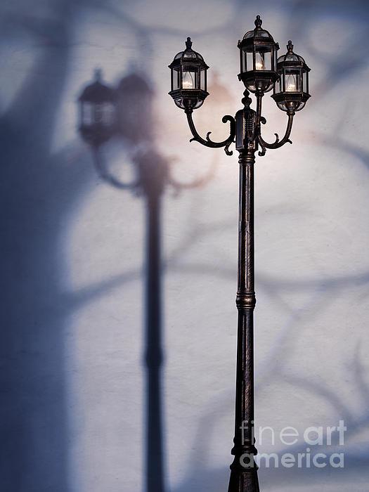 Street Lamp At Night Print by Oleksiy Maksymenko