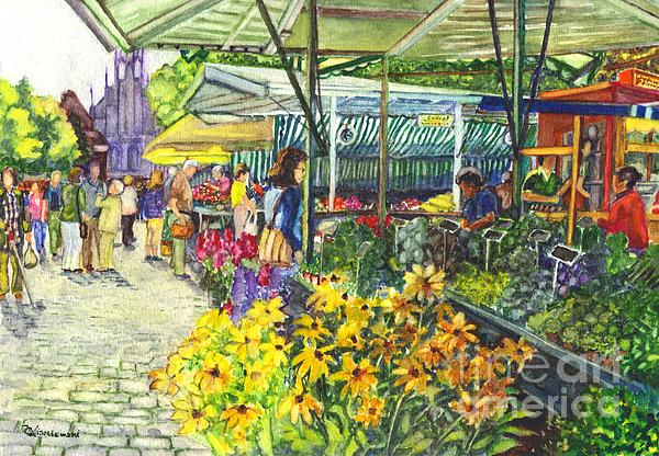Carol Wisniewski - Street Market in Munster Germany