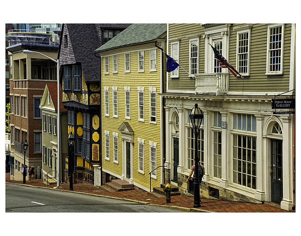 Street Of Many Colors In Providence Ri Print by Nancy  de Flon