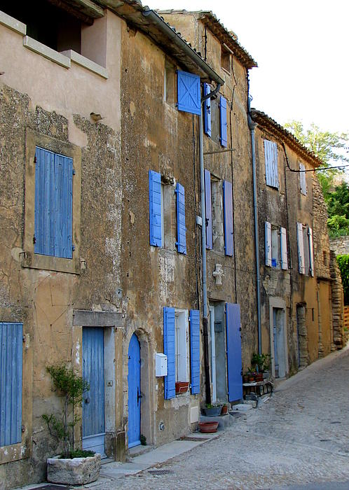 Street Scene In Provence Print by Carla Parris