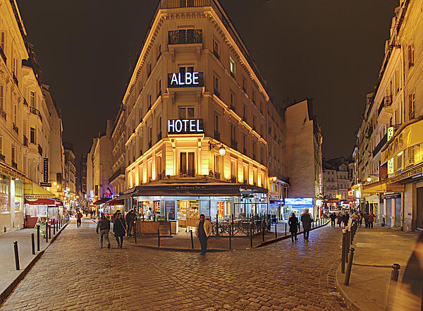 Street Scenes - Paris France - 011328 Print by DC Photographer