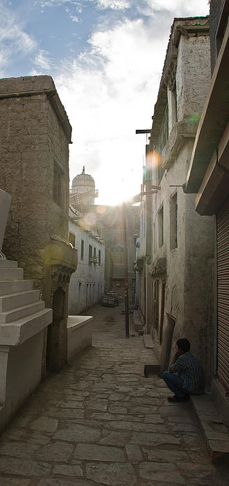 Streets Of Leh Print by Aaron S Bedell
