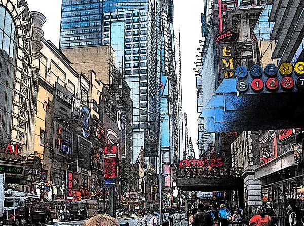 Streets Of New York City 6 Print by Mario  Perez