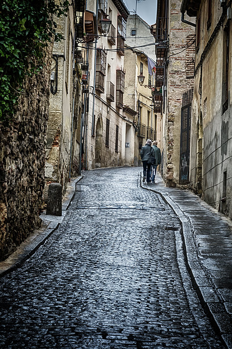 Streets Of Segovia Print by Joan Carroll