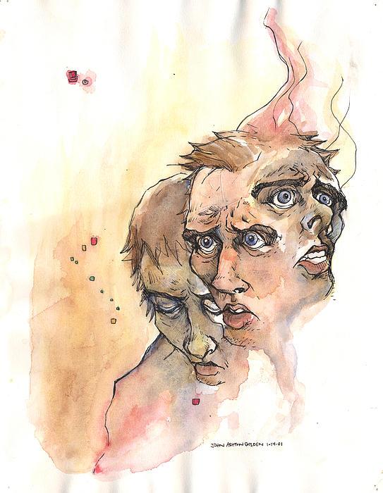 Stress Anxiety Depression Print by John Ashton Golden