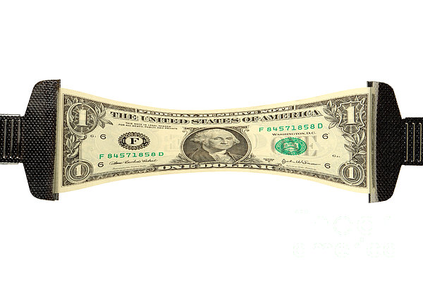 Stretching The Dollar Print by Olivier Le Queinec