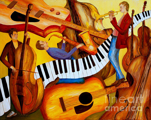 Strings And Things Print by Larry Martin
