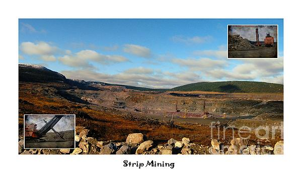 Strip Mining - Environment - Panorama - Labrador Print by Barbara Griffin