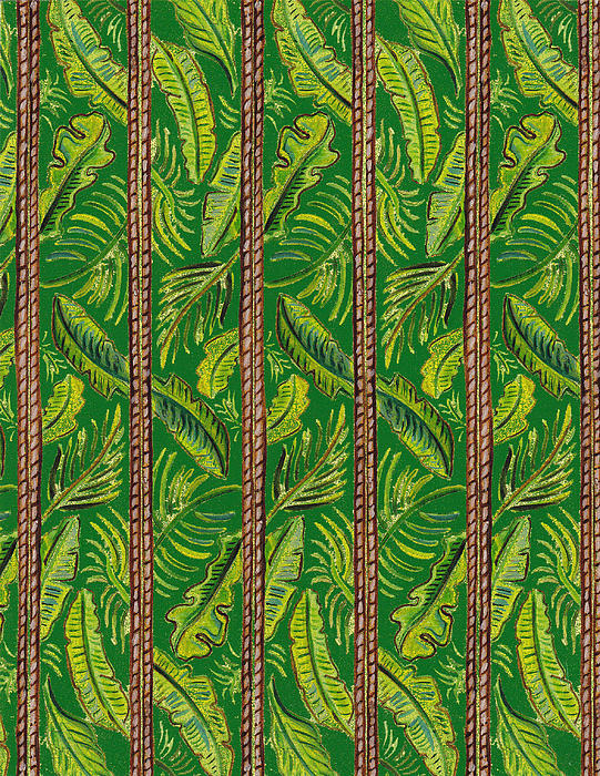 Striped Palms Textile Pattern Print by John Keaton