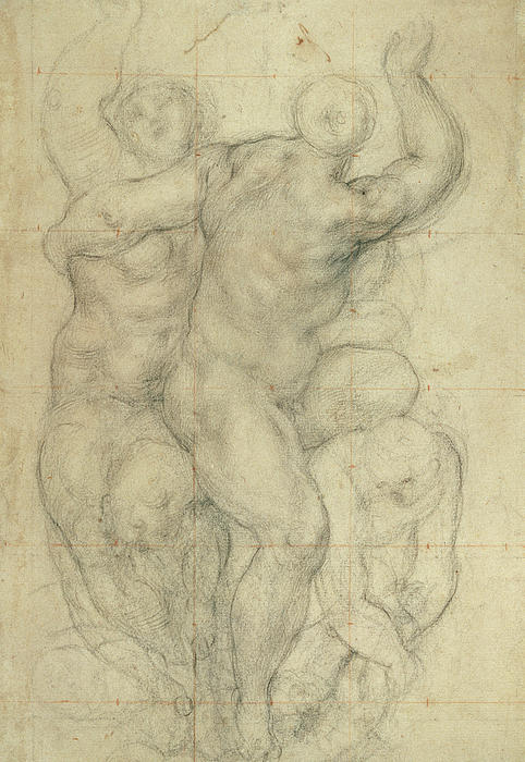 Study For A Group Of Nudes Print by Jacopo Pontormo