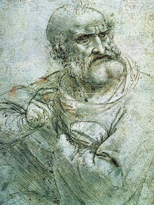 Study For An Apostle From The Last Supper Print by Leonardo da Vinci