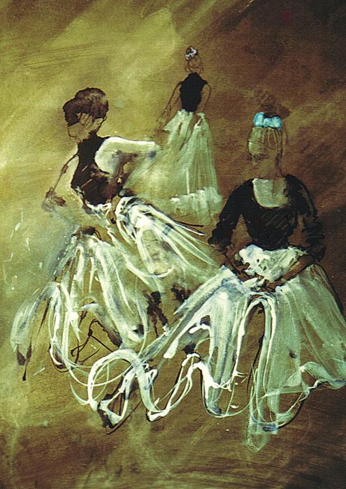 Study For Spanish Rehearsal Print by Podi Lawrence