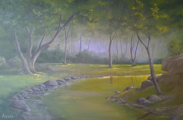 Study In Green Print by Darren Boysha