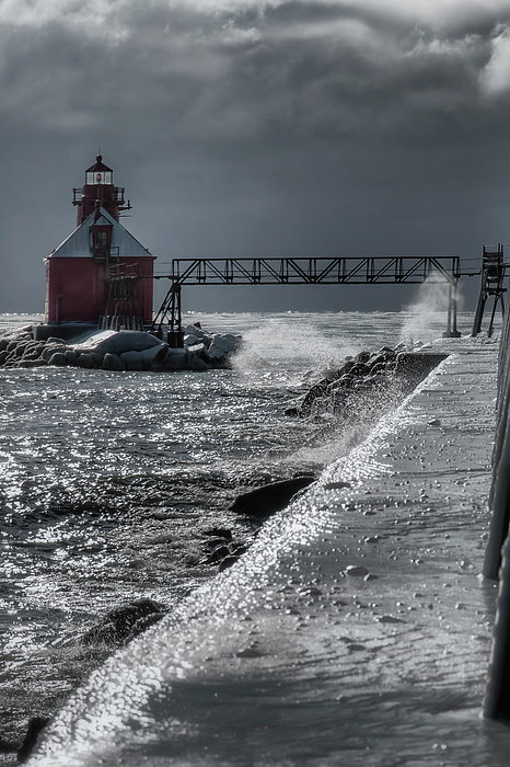 Sturgeon Bay After The Storm Print by Joan Carroll