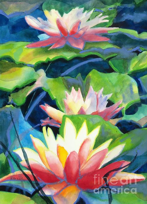 Kathy Braud - Styalized Lily Pads 3