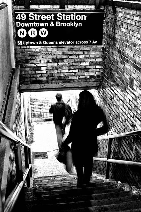 Subway Shadows Print by Karol  Livote
