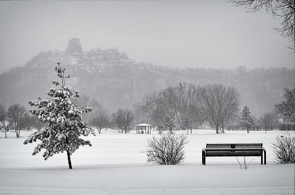 Sugarloaf Snowstorm Print by Al  Mueller