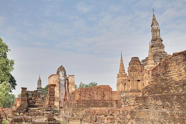 Sukhothai Historical Park - Sukhothai Thailand - 011316 Print by DC Photographer