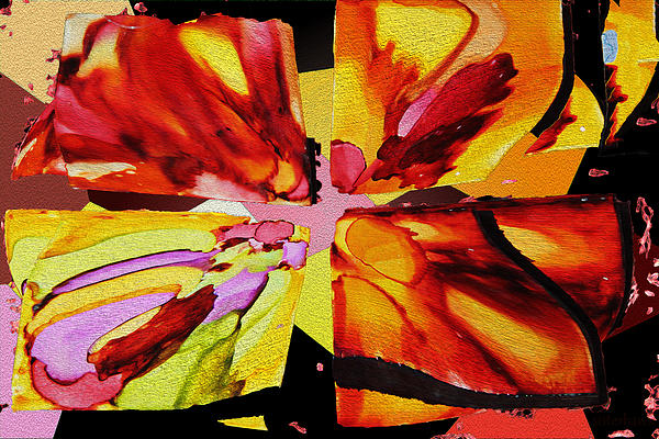 Summer Abstract Print by Kathy Bassett