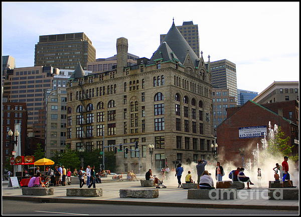 Summer Afternoon In Boston Print by  Photographic Art and Design by Dora Sofia Caputo