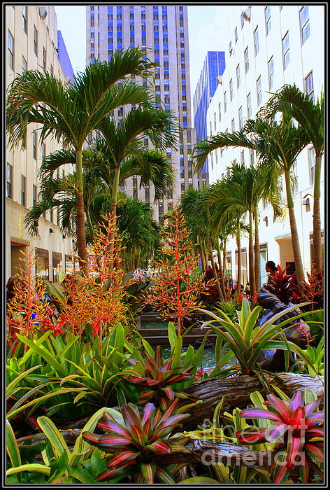 Summer At Rockefeller Center Print by Photographic Art and Design by Dora Sofia Caputo