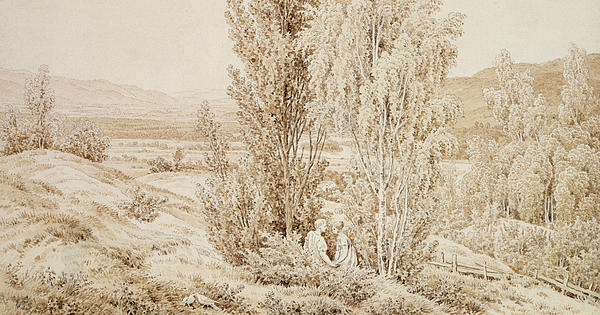 Summer Print by Caspar David Friedrich