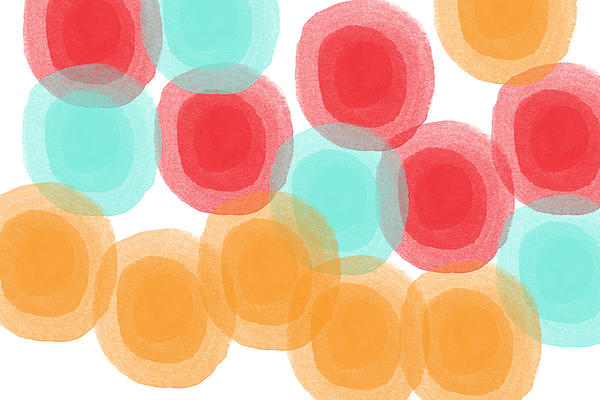 Summer Sorbet- Abstract Painting Print by Linda Woods