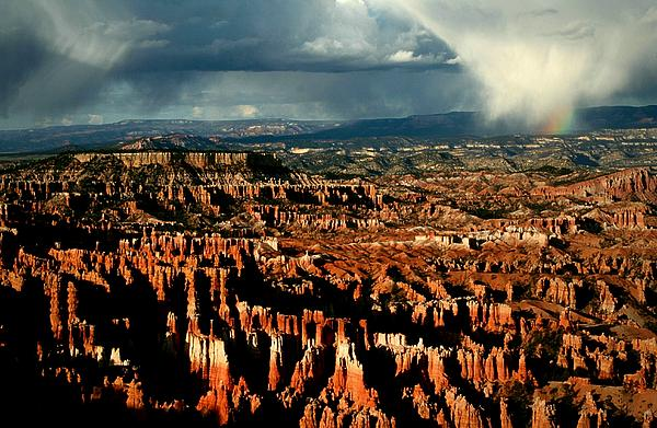 Summer Storm At Bryce Canyon National Park Print by Jetson Nguyen