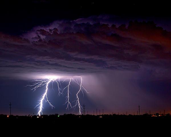Summer Thunderstorm San Joaquin Valley Ca Print by Troy Montemayor