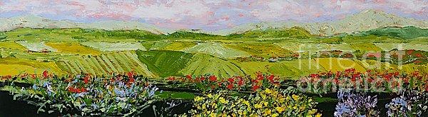 Summer Valley Print by Allan P Friedlander