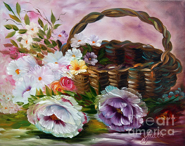 Ilona Anita Tigges - Goetze - Summerflowers in  Basket 1