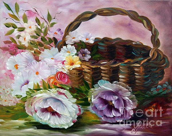 ILONA ANITA TIGGES - GOETZE  ART and Photography  - Summerflowers in  Basket 1