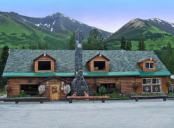 Summit Lake Lodge Alaska Print by Aimee L Maher Photography and Art