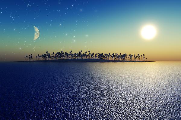 Sun And Moon Print by Aleksey Tugolukov