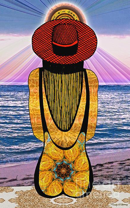 Sun Girl's Back Print by Joseph J Stevens