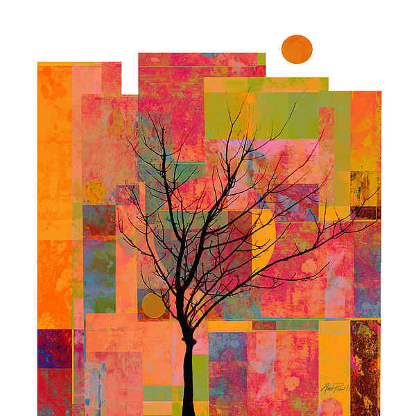 Sun In The City - Abstract - Art  Print by Ann Powell