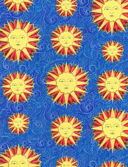 Sun King Textile Pattern Print by John Keaton