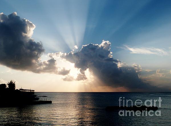 Sun Rays Print by Amar Sheow