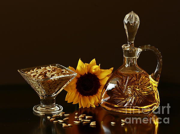 Sunflower And Crystal Print by Inspired Nature Photography By Shelley Myke