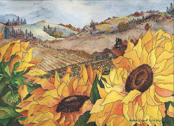 Sunflower Serenity Print by Meldra Driscoll