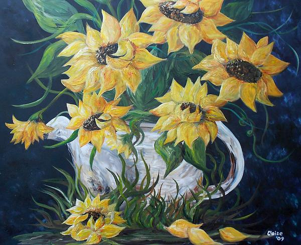 Eloise Schneider - Sunflowers in an Antique Country Pot