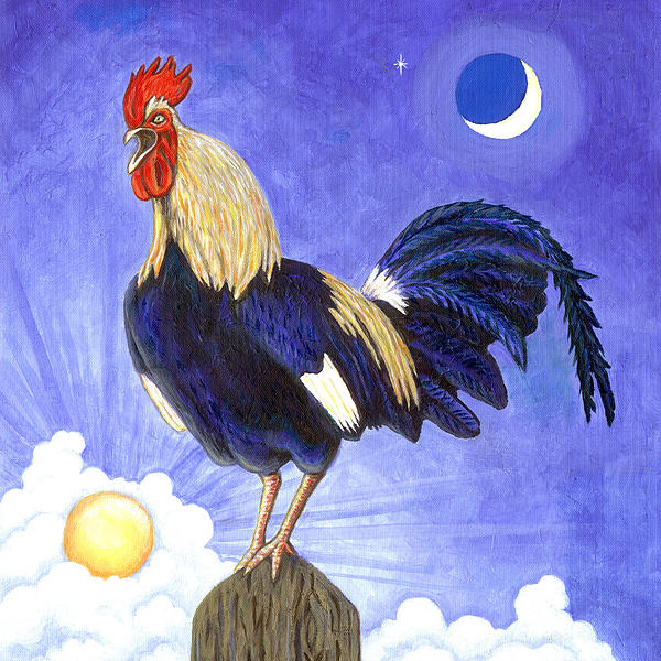 Sunny The Rooster Print by Linda Mears