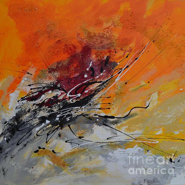 Sunrise - Abstract Print by Ismeta Gruenwald