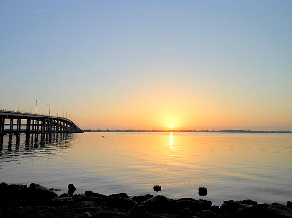 Kay Gilley - Sunrise at Melbourne Florida Causeway