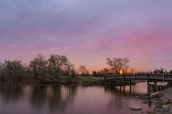 Sunrise At The Park Print by Dwayne Schnell