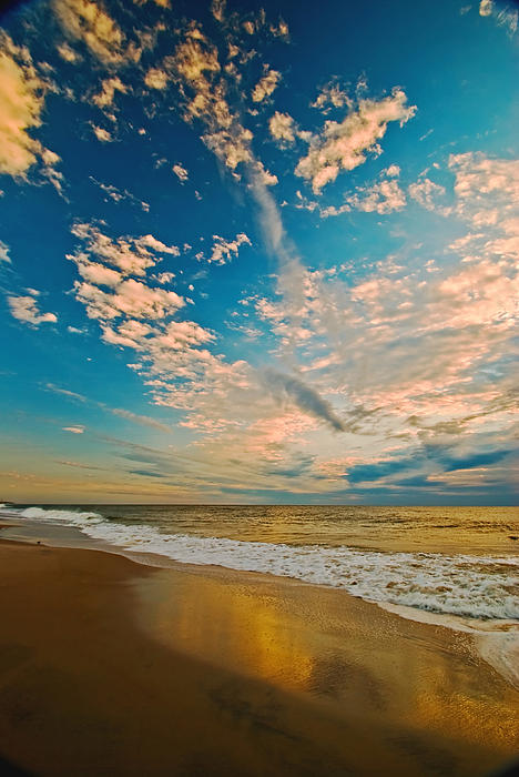 Sunrise Coming At The Shore. Print by Bill Jonscher