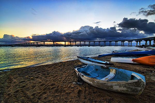 Sunrise - Coronado Bridge Print by Peter Dang